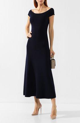 Женское платье из смеси шерсти и кашемира GABRIELA HEARST темно-синего цвета, арт. 419901 A004 | Фото 2