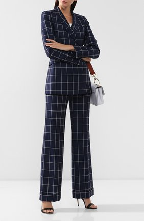 Женские шерстяные брюки GABRIELA HEARST темно-синего цвета, арт. 419205 W013 | Фото 2