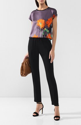 Женские брюки со стрелками DRIES VAN NOTEN черного цвета, арт. 192-10905-8322 | Фото 2