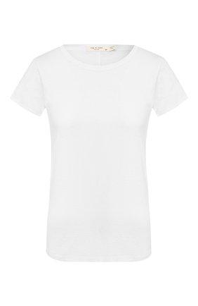 Женская хлопковая футболка RAG&BONE белого цвета, арт. W272C32CH | Фото 1