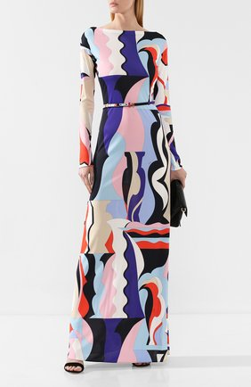 Женское платье из смеси вискозы и шелка EMILIO PUCCI разноцветного цвета, арт. 9RJI30/9R747 | Фото 2