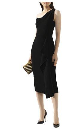 Женское шерстяное платье ROLAND MOURET черного цвета, арт. PW19/S0737/F4044   Фото 2