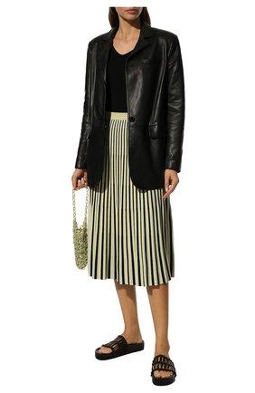 Женская юбка-миди PROENZA SCHOULER светло-зеленого цвета, арт. R1937264-KY155 | Фото 2