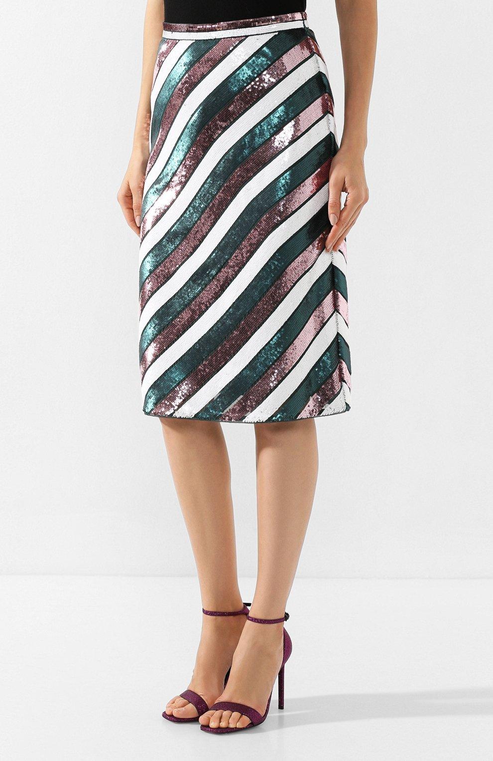 Женская шелковая юбка DIANE VON FURSTENBERG розового цвета, арт. 13072DVF | Фото 3