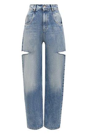 Женские джинсы с потертостями MAISON MARGIELA синего цвета, арт. S51LA0051/S30513   Фото 1