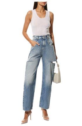 Женские джинсы с потертостями MAISON MARGIELA синего цвета, арт. S51LA0051/S30513   Фото 2