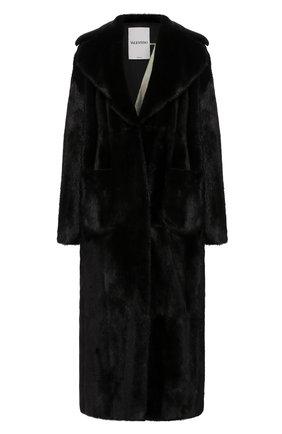 Женская шуба из меха норки VALENTINO черного цвета, арт. SF3FA7751CF | Фото 1