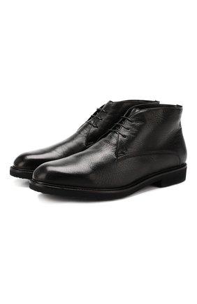 Мужские кожаные ботинки MORESCHI черного цвета, арт. 43201/EM | Фото 1