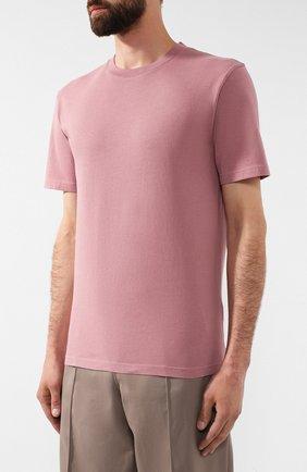 Мужская хлопковая футболка MAISON MARGIELA розового цвета, арт. S50GC0555/S22533 | Фото 3