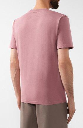 Мужская хлопковая футболка MAISON MARGIELA розового цвета, арт. S50GC0555/S22533 | Фото 4