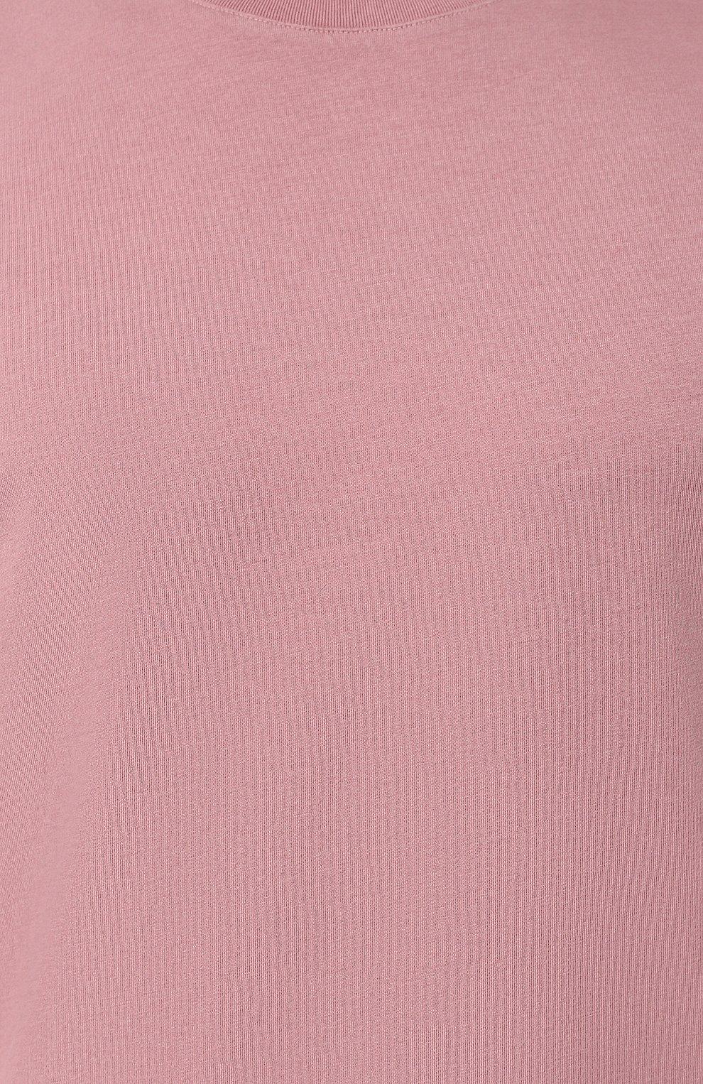 Мужская хлопковая футболка MAISON MARGIELA розового цвета, арт. S50GC0555/S22533 | Фото 5