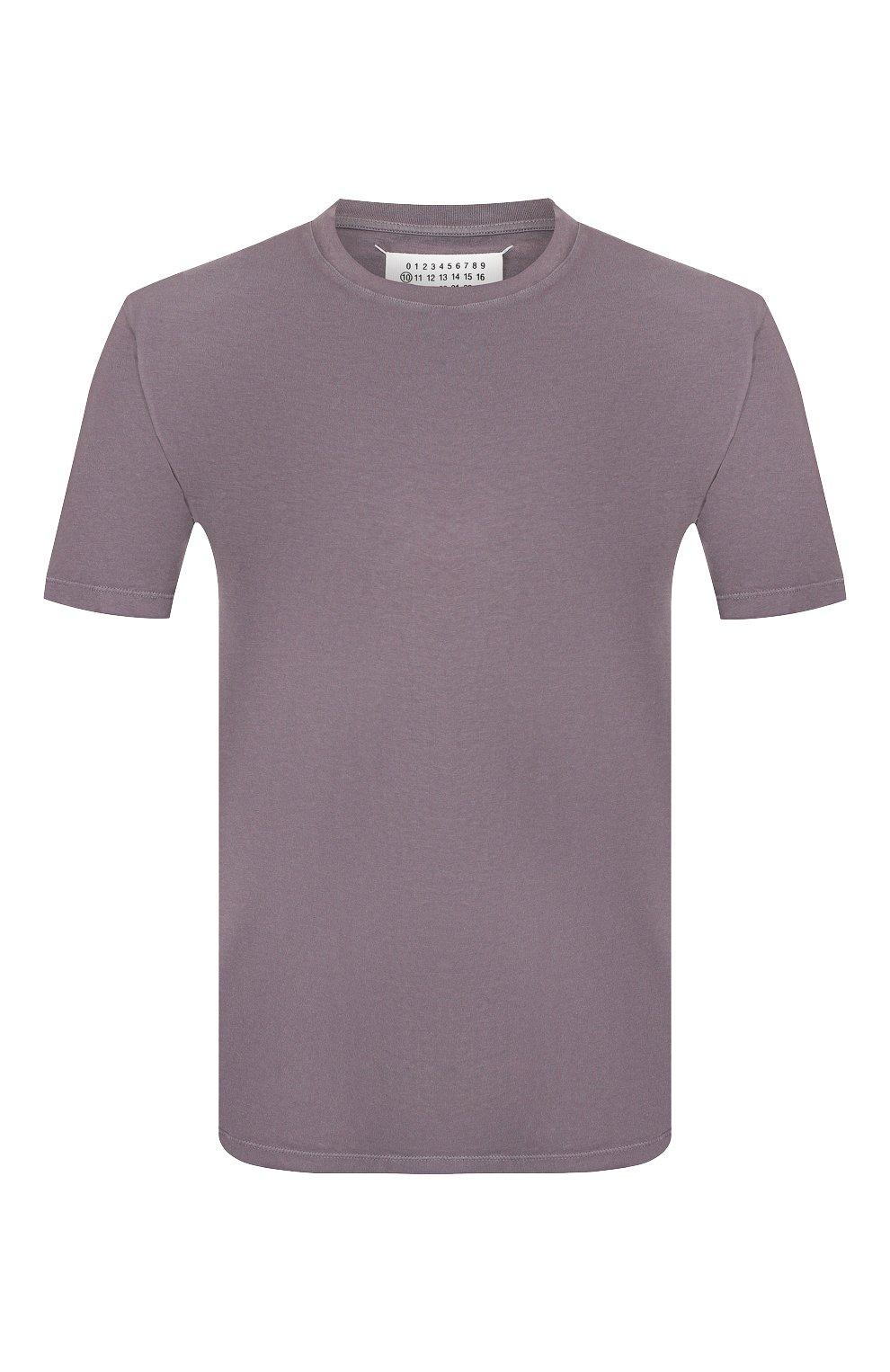 Мужская хлопковая футболка MAISON MARGIELA серого цвета, арт. S50GC0555/S22533 | Фото 1