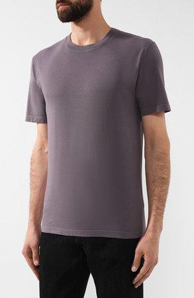 Мужская хлопковая футболка MAISON MARGIELA серого цвета, арт. S50GC0555/S22533 | Фото 3