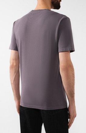 Мужская хлопковая футболка MAISON MARGIELA серого цвета, арт. S50GC0555/S22533 | Фото 4
