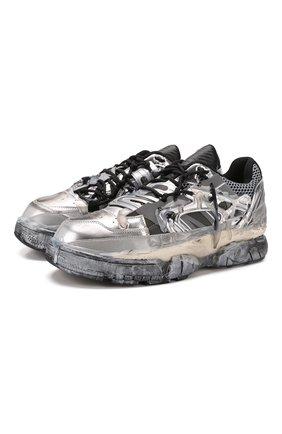 Мужские кроссовки fusion MAISON MARGIELA серебряного цвета, арт. S57WS0257/P2867 | Фото 1