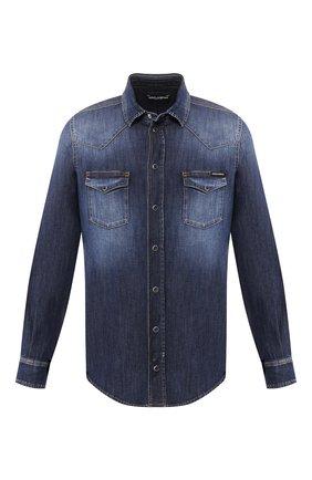 Мужская джинсовая рубашка DOLCE & GABBANA голубого цвета, арт. G5EX7D/G8BF6 | Фото 1