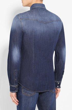 Мужская джинсовая рубашка DOLCE & GABBANA голубого цвета, арт. G5EX7D/G8BF6 | Фото 4