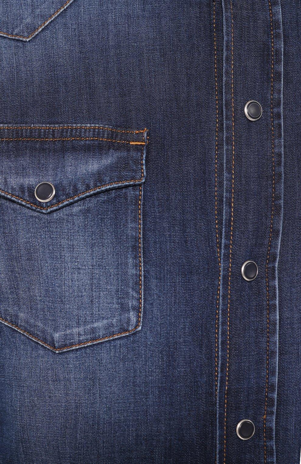 Мужская джинсовая рубашка DOLCE & GABBANA голубого цвета, арт. G5EX7D/G8BF6 | Фото 5