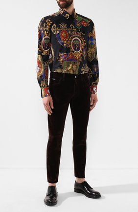 Мужские джинсы DOLCE & GABBANA коричневого цвета, арт. GYD2LD/G8BL1   Фото 2
