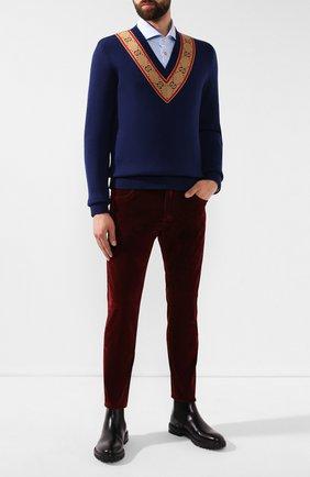 Мужские джинсы DOLCE & GABBANA красного цвета, арт. GYD2LD/G8BL1   Фото 2