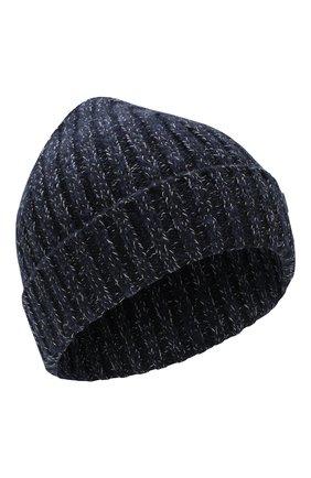 Мужская шерстяная шапка BRIONI темно-синего цвета, арт. 04M60L/08K35 | Фото 1