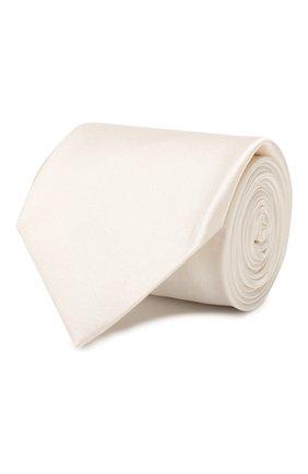 Мужской шелковый галстук BRIONI белого цвета, арт. 061D00/P446Z | Фото 1