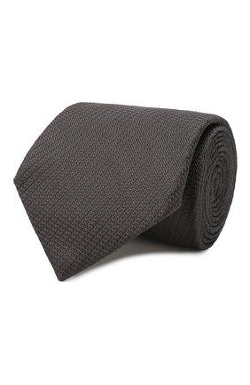 Мужской шелковый галстук BRIONI темно-серого цвета, арт. 062H00/PZ416 | Фото 1
