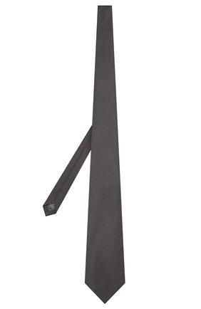 Мужской шелковый галстук BRIONI темно-серого цвета, арт. 062H00/PZ416 | Фото 2