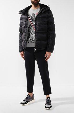 Мужская пуховая куртка rouve MONCLER черного цвета, арт. E2-091-40825-05-53334 | Фото 2