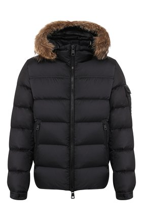 Мужская пуховая куртка MONCLER черного цвета, арт. E2-091-41378-25-53227 | Фото 1