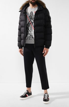 Мужская пуховая куртка MONCLER черного цвета, арт. E2-091-41378-25-53227 | Фото 2