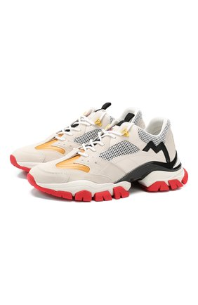 Мужские кожаные кроссовки leave no trace MONCLER белого цвета, арт. E2-09A-10389-00-01AJQ | Фото 1