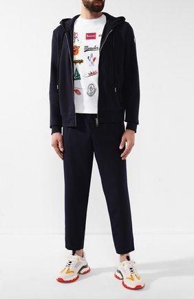 Мужские кожаные кроссовки leave no trace MONCLER белого цвета, арт. E2-09A-10389-00-01AJQ | Фото 2
