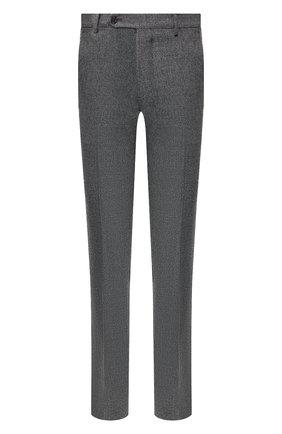 Мужские брюки из шерсти и кашемира ANDREA CAMPAGNA серого цвета, арт. SC/1/FA2064 | Фото 1 (Материал подклада: Купро; Материал внешний: Шерсть; Длина (брюки, джинсы): Стандартные; Случай: Повседневный, Формальный; Стили: Классический)
