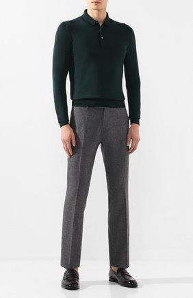 Мужские брюки из шерсти и кашемира ANDREA CAMPAGNA серого цвета, арт. SC/1/FA2064 | Фото 2 (Материал подклада: Купро; Материал внешний: Шерсть; Длина (брюки, джинсы): Стандартные; Случай: Повседневный, Формальный; Стили: Классический)