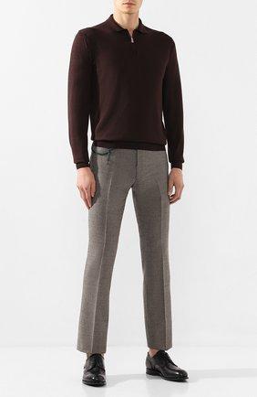 Мужской шерстяные брюки BERWICH темно-коричневого цвета, арт. SC/1ALC/MZ1853X | Фото 2