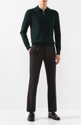 Мужской шерстяные брюки BERWICH темно-коричневого цвета, арт. SC/1ALC/RD1436 | Фото 2