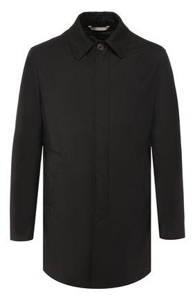 Мужской шерстяное пальто CANALI черного цвета, арт. 010287/SR01275 | Фото 1