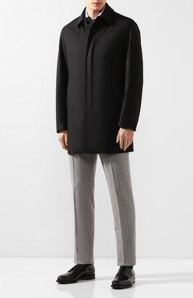 Мужской шерстяное пальто CANALI черного цвета, арт. 010287/SR01275 | Фото 2