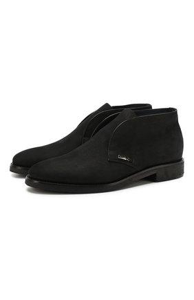 Мужские кожаные ботинки ZILLI черного цвета, арт. ZA B22/018 | Фото 1