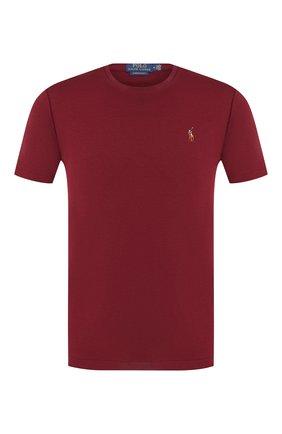 Мужская хлопковая футболка POLO RALPH LAUREN бордового цвета, арт. 710740727 | Фото 1