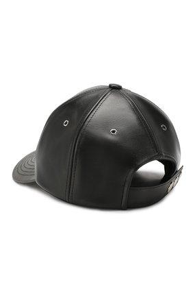 Мужской кожаная бейсболка KENZO черного цвета, арт. F855AC500L47 | Фото 2