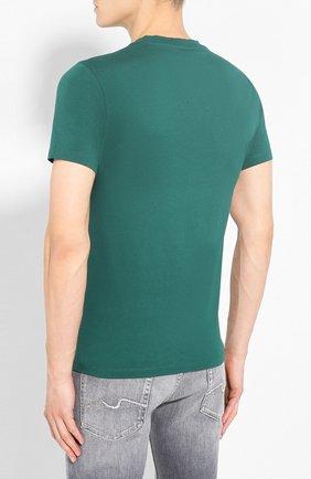 Мужская хлопковая футболка KENZO зеленого цвета, арт. F965TS0504YA   Фото 4