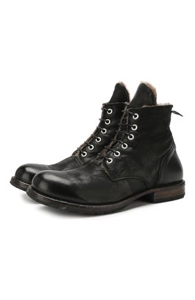 Мужские кожаные ботинки MOMA черного цвета, арт. 2CW007-BAM | Фото 1