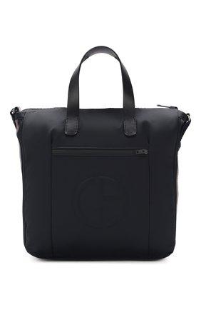 Мужская текстильная сумка GIORGIO ARMANI черного цвета, арт. Y2N110/YFD1J | Фото 1