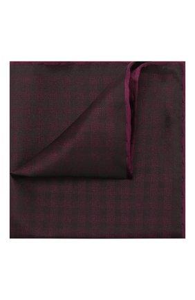 Мужской шелковый платок BRIONI фиолетового цвета, арт. 071000/0842B | Фото 1