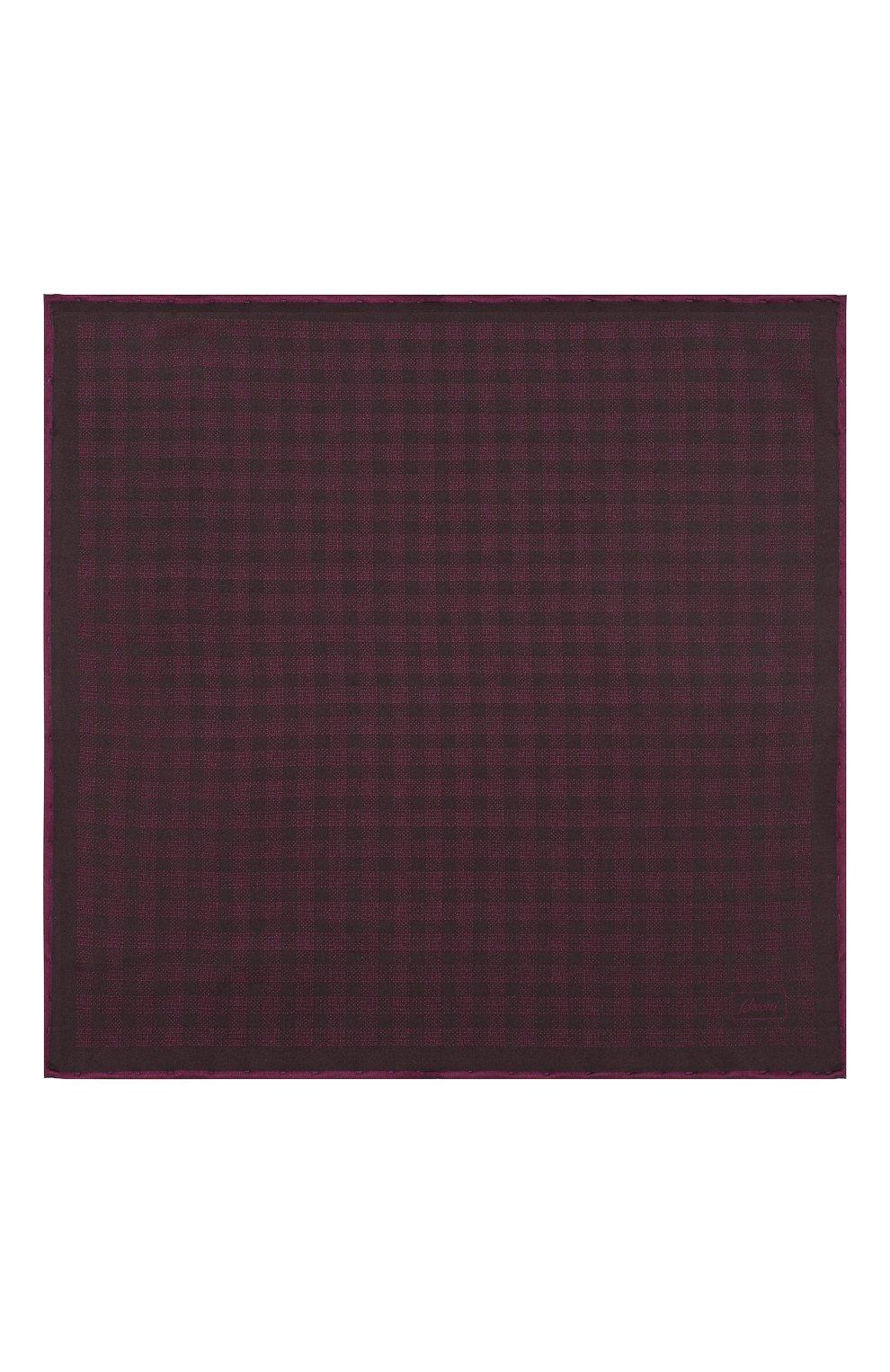 Мужской шелковый платок BRIONI фиолетового цвета, арт. 071000/0842B | Фото 3
