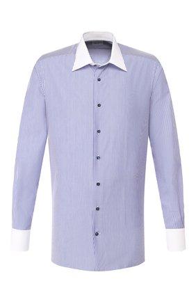 Мужская хлопковая сорочка ZILLI синего цвета, арт. MFS-MERCU-12401/RZ01 | Фото 1