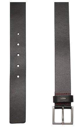 Мужской кожаный ремень HUGO черного цвета, арт. 50419003 | Фото 2