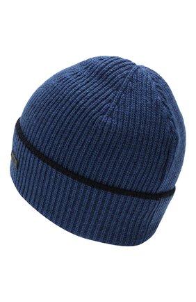 Мужская шерстяная шапка BOSS синего цвета, арт. 50416305   Фото 2
